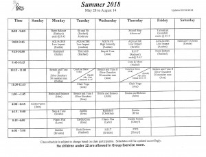 Summer.2018.classes